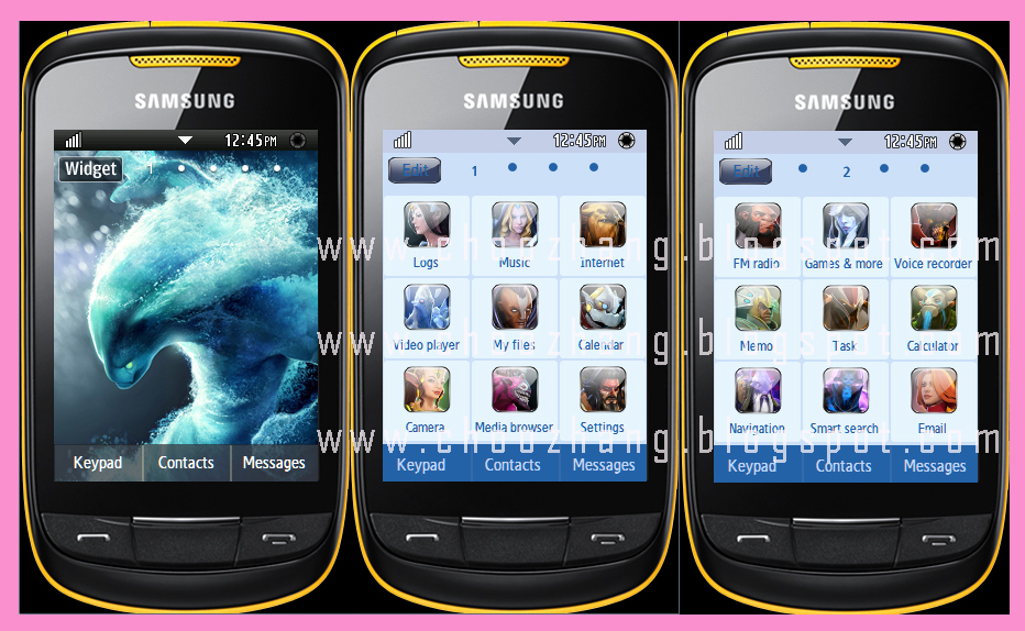 Samsung Corby 2 themes - free download
