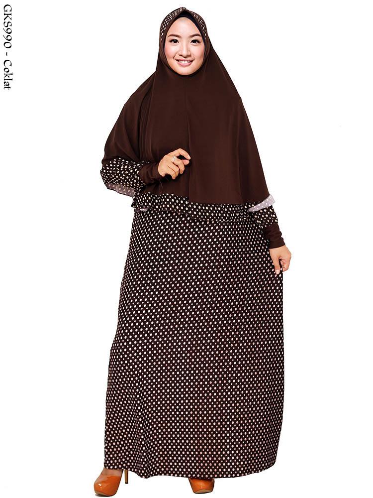 Gks990 Gamis Jersey Jumbo Syar 39 I Busana Muslim Murah