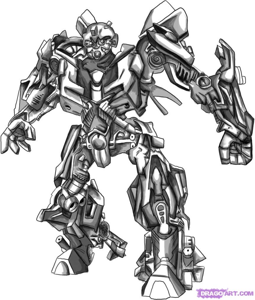 transformers coloring pages bumblebee - Transformers Coloring Pages