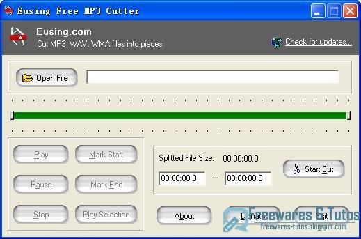 Eusing free mp3 cutter un logiciel gratuit pour d couper les fichiers audio mp3 wav wma - Couper un fichier audio en ligne ...