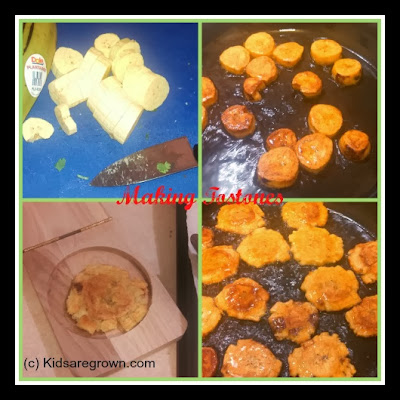 Making Tostones