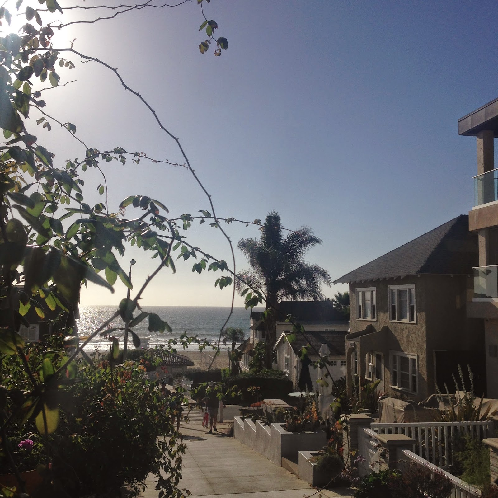 manhattan beach, fall in california