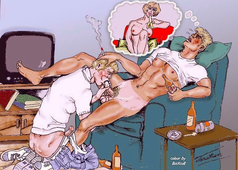 Cuckold Dreamer Interracial Wife and Sissy Husband Cartoons