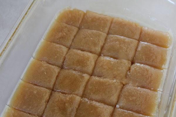 pan of caramels