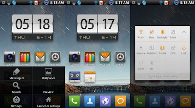 MiHome Launcher v0.6.7 for non-MIUI Android 2.3 devices
