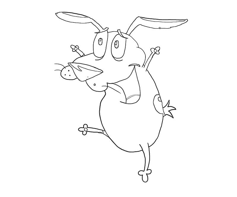 printable-courage-dog-playing-coloring-pages