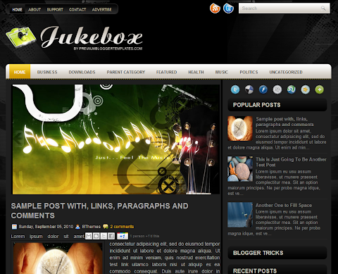 Jukebox Blogger Theme