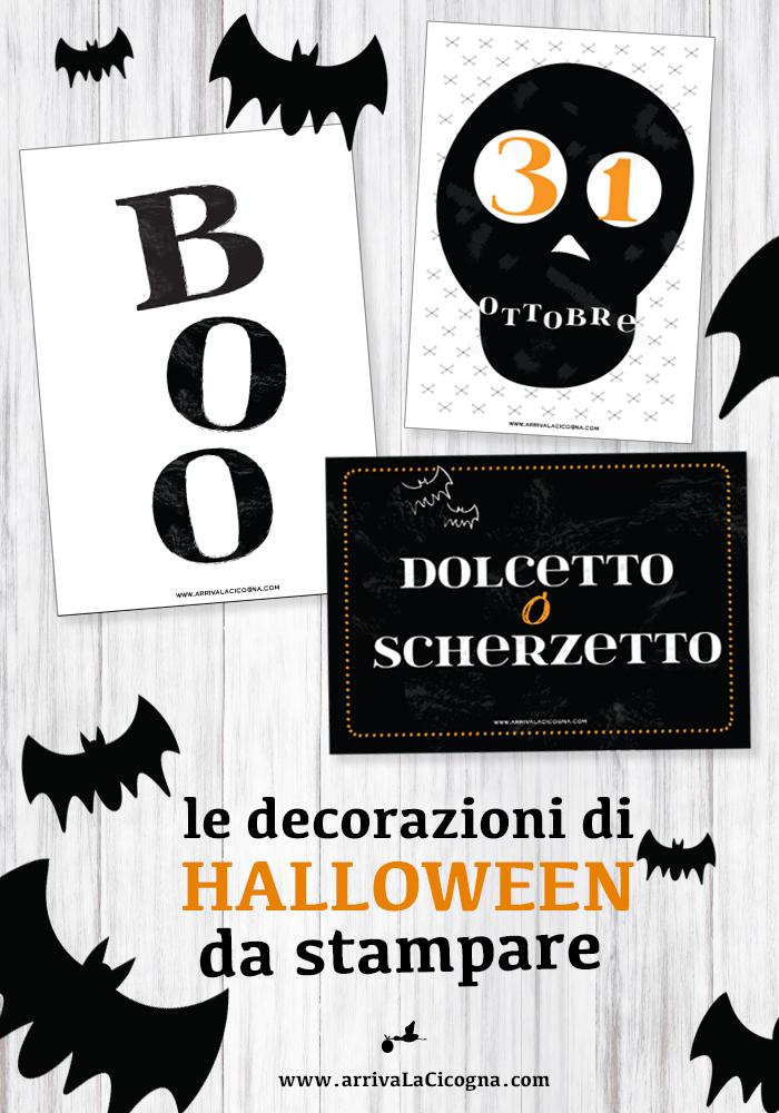 grafiche stampabili di Halloween