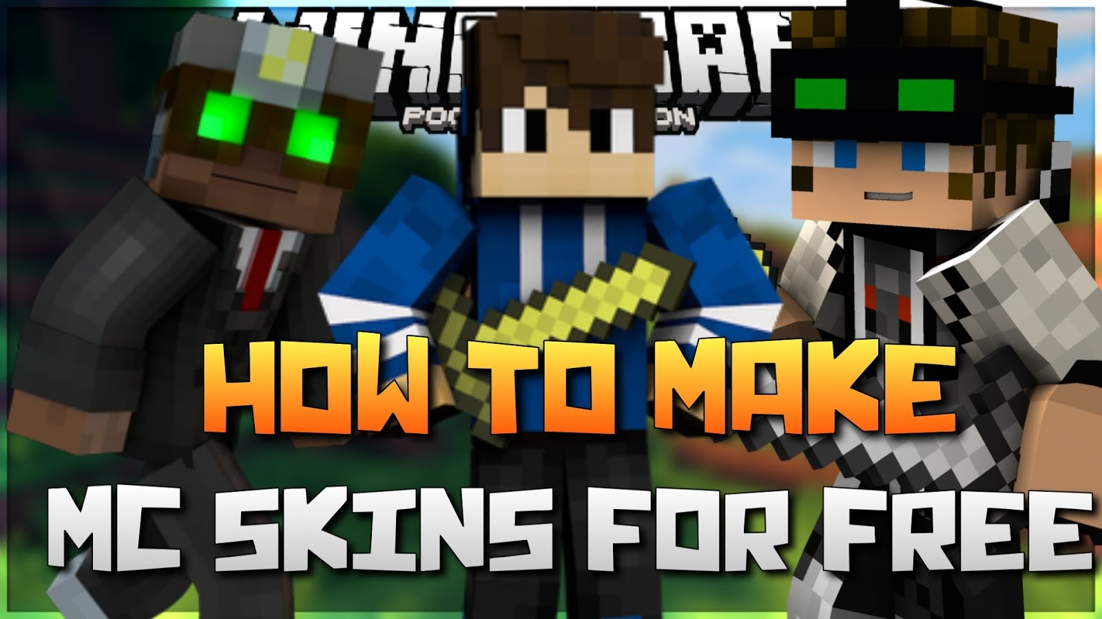 How To Make Your Own MCPE Skins Game MCPE Skins - Skins para minecraft online