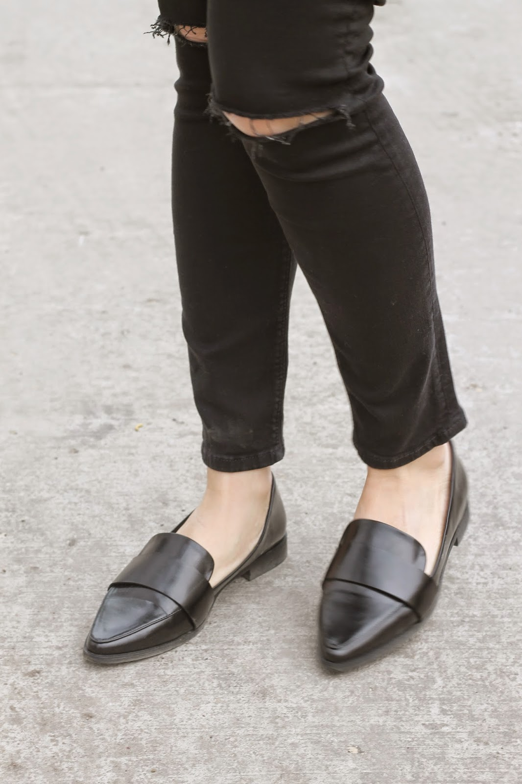 black, forever 21, loafers