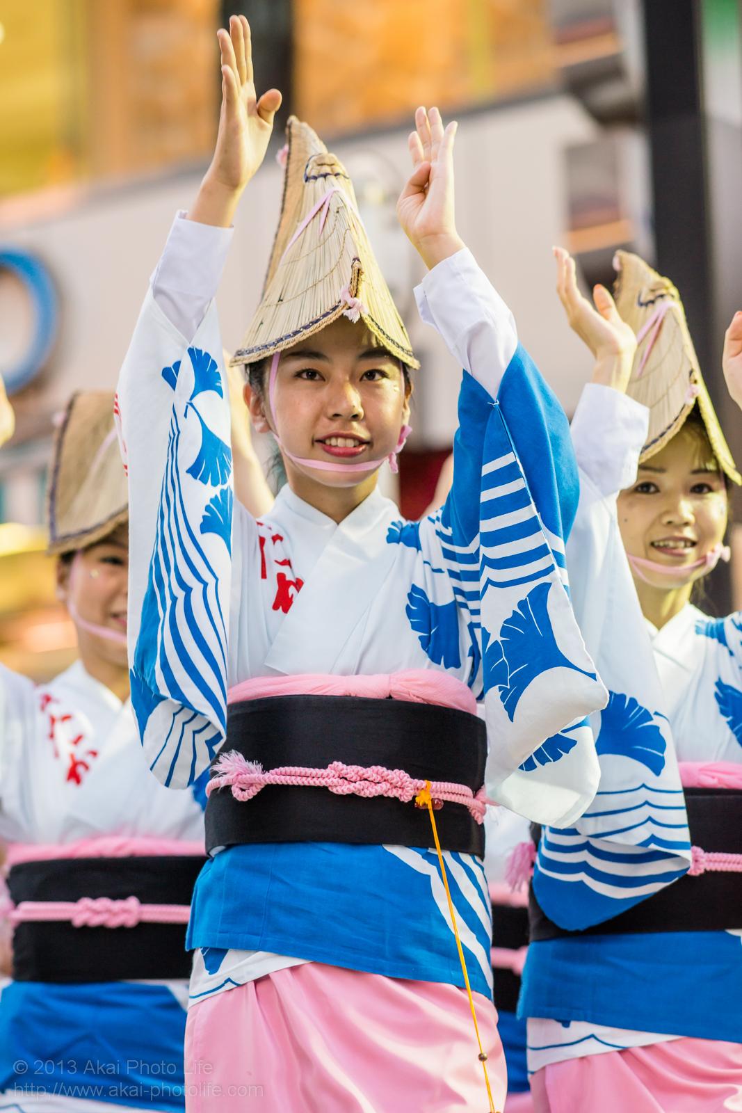 三鷹阿波踊り、みたか市役所連の女踊り