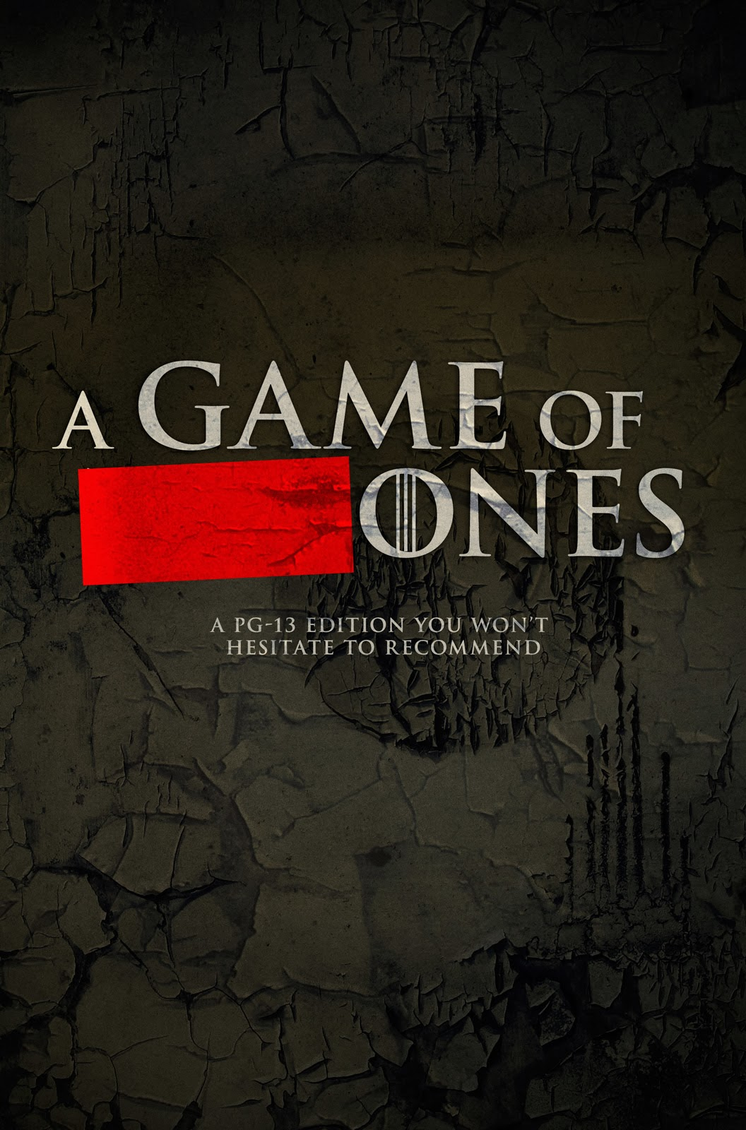 A censored book cover for A Game of Thrones