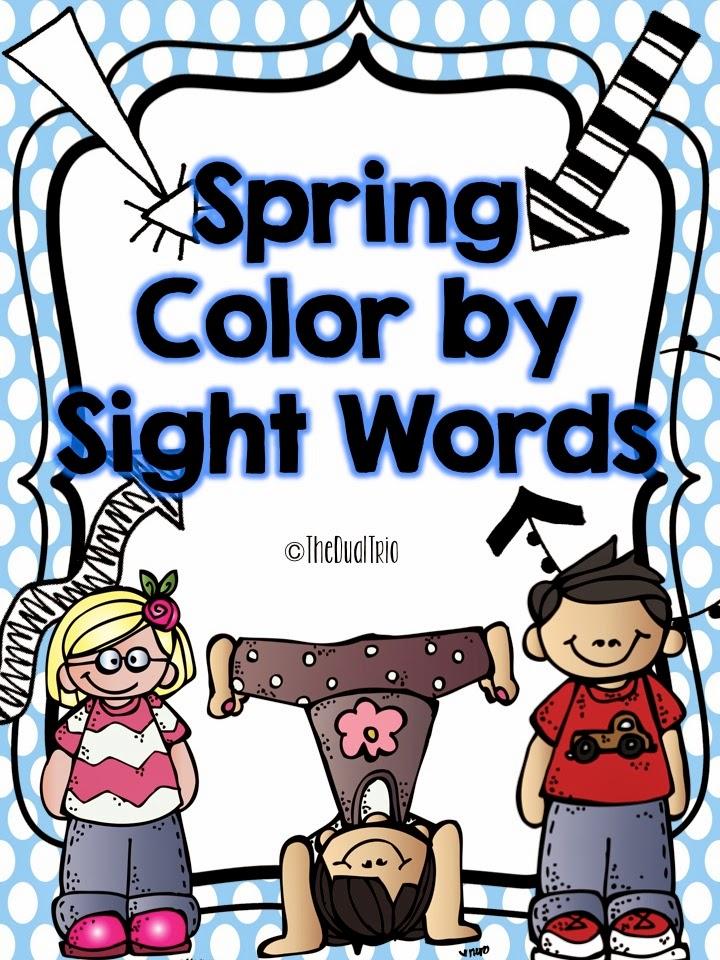 http://www.teacherspayteachers.com/Product/Spring-Color-by-Sight-Words-1230573