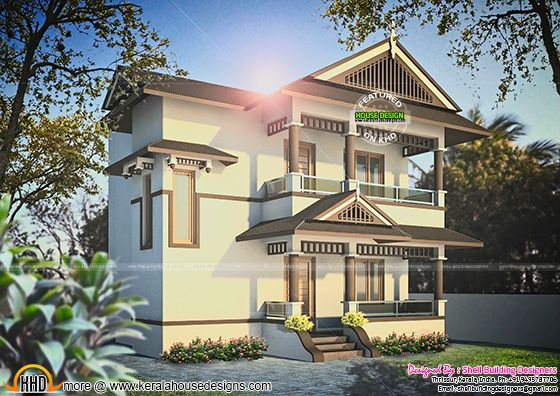 Kerala House 1308 sq-ft