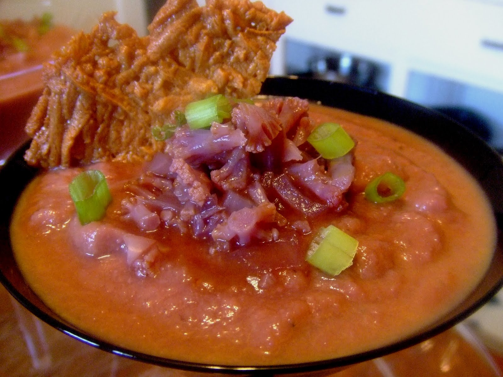 Extreme Vegan Makeover: Purple Cauliflower Soup with Cheddar Crisps ...