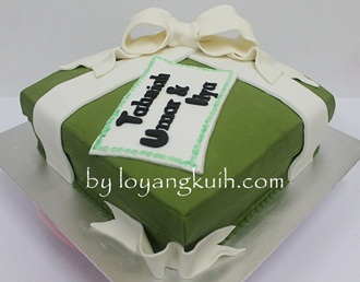 Hantaran Cake - Gift Box Cake