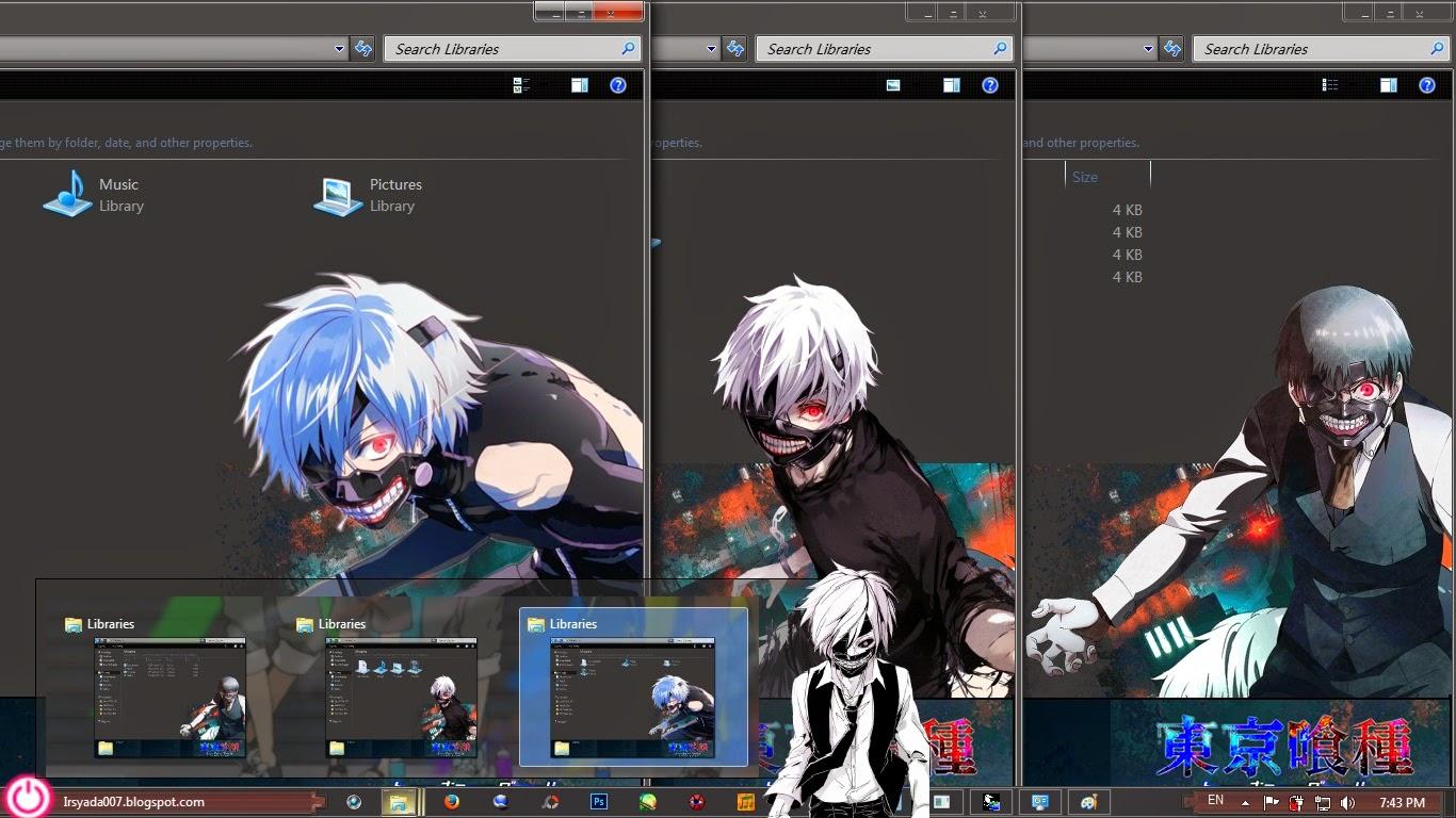 Google themes anime tokyo ghoul - Please Wait