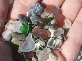 Picture of Polished beach glass in someone's hand