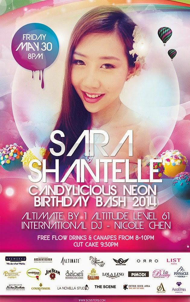 Sara Shantelle Lim's S$40,000 Birthday Bash 2014