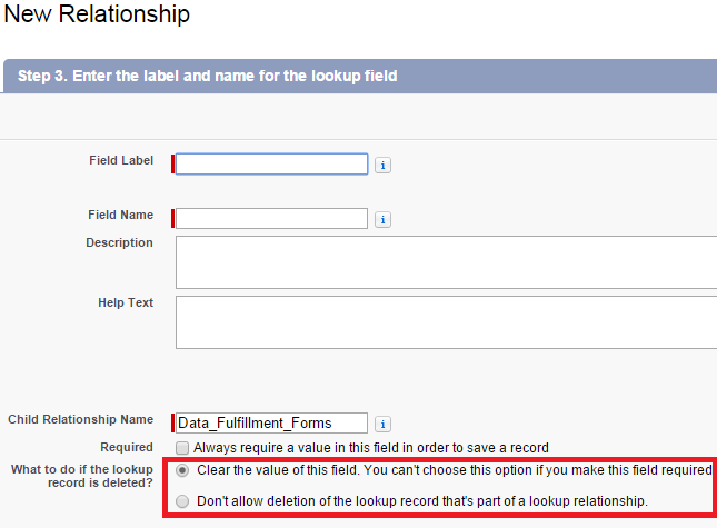 lookup relationship field in salesforce app