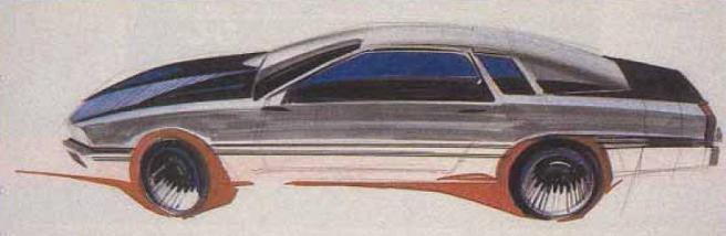 Mazda Cosmo HB, coupe, kultowy samochód z duszą, koncept, rysunek