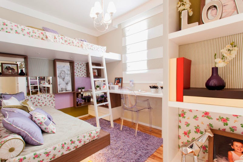 C mo colocar dos camas en un dormitorio para ni as dise o y decoraci n - Camas decoradas ...