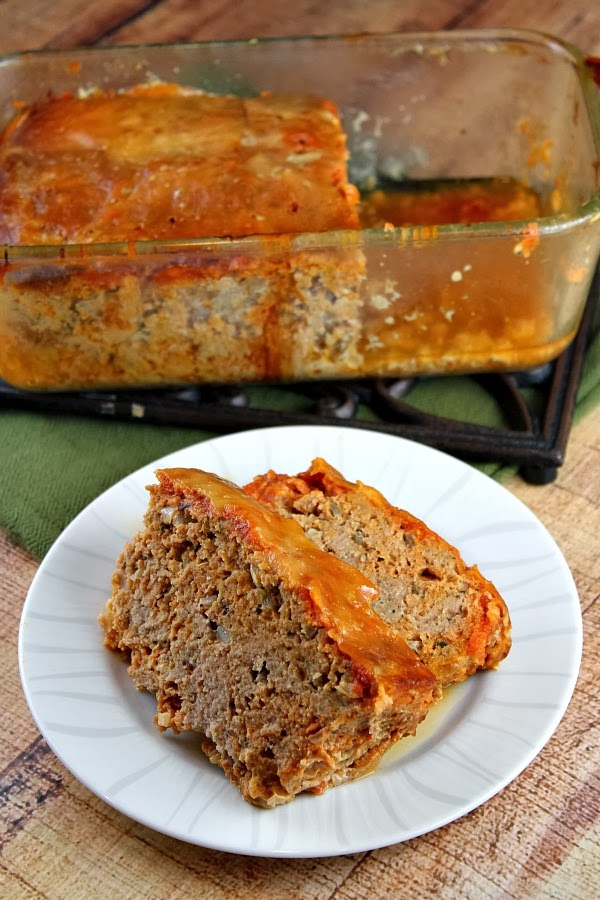 Chicken Parmigiana Meatloaf cooked in the slow cooker