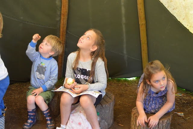 Kids in Tipi