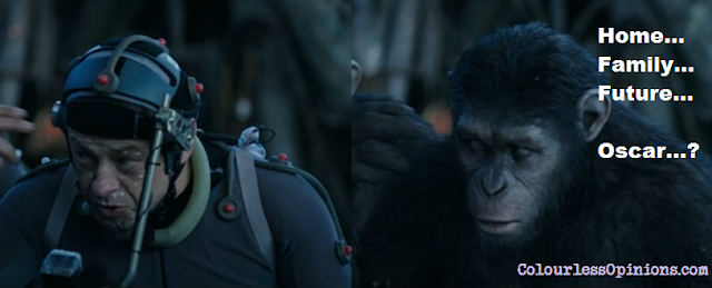 Andy Serkis as Caesar in Dawn of the Planet of the Apes 2014 home family future movie meme behind the scenes
