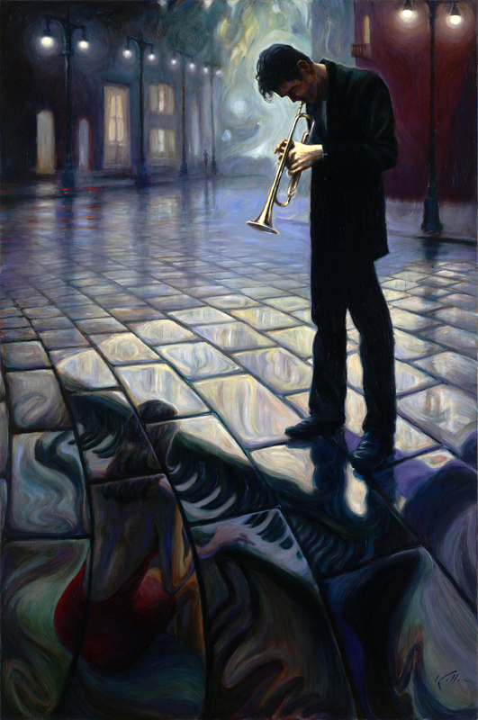 Mark Keller | American Figurative painter | Echoes of a melody