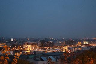 Night view of Budapest at night