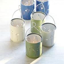 cara memanfaatkan kaleng bekas untuk vas gantung