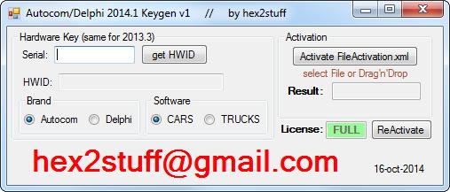 hex2stuff 2013: autocom / delphi 2014 release 1 keygen activator 2014