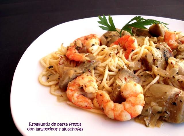 Cocinax2 las recetas de laurita espaguetis de pasta for Espaguetis para dos