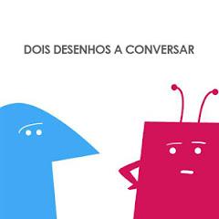 Dois desenhos a conversar