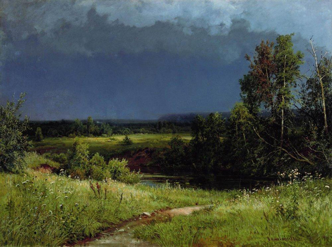 The Flying Clubhouse: Shishkin's Landscapes // Gathering Storm, 1884