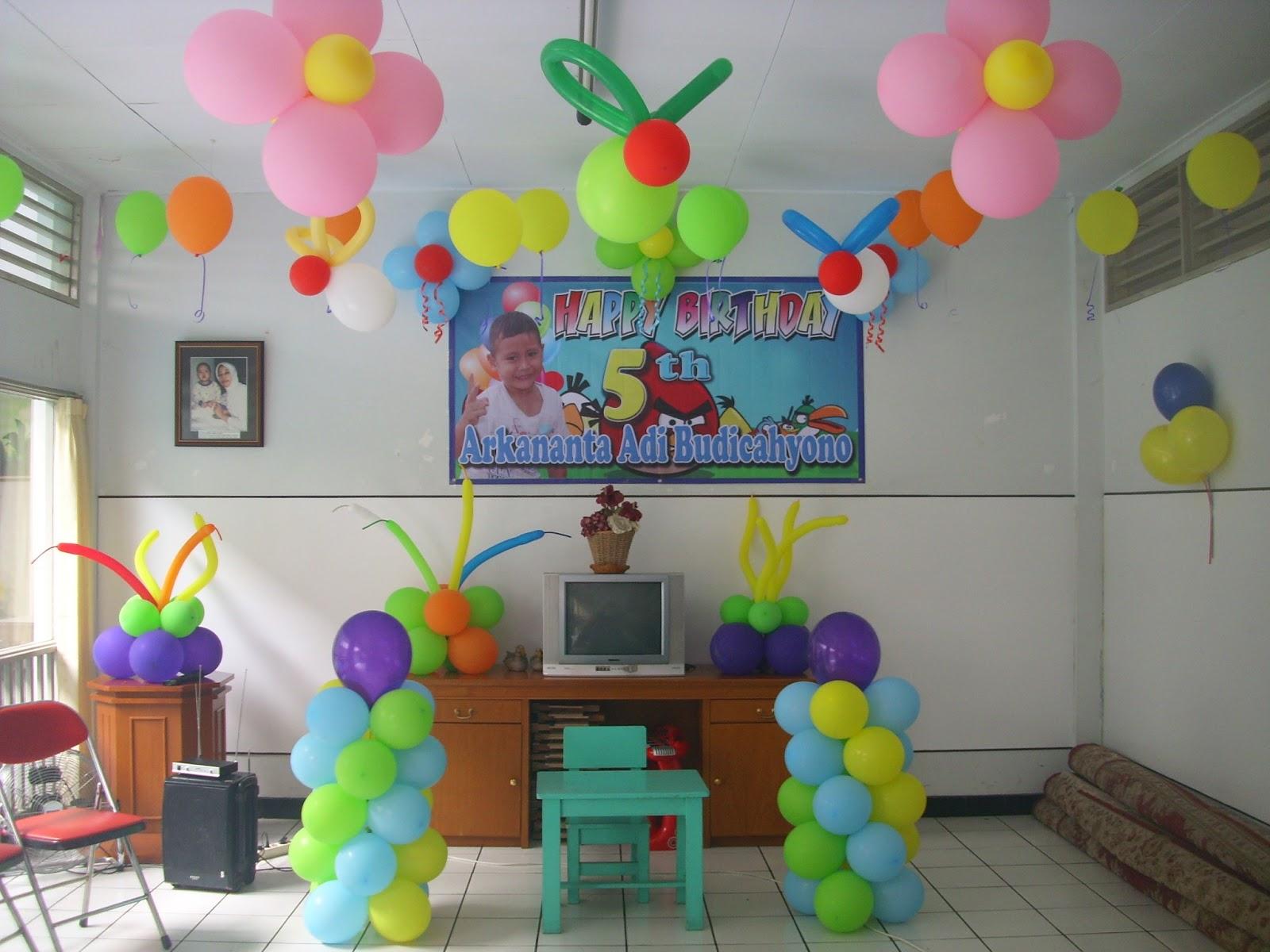 Dekorasi balon ulang tahun anak for Dekor ulang tahun