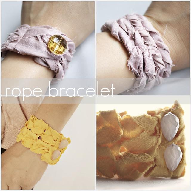 crafty jewelry: rope bracelet tutorial