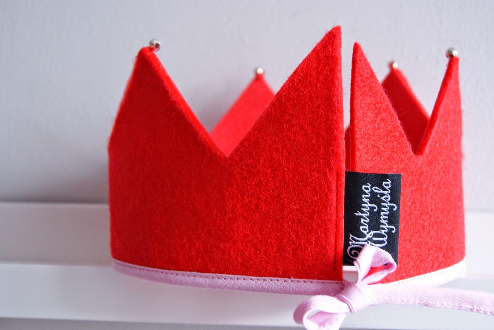tekstylna korona filcowa