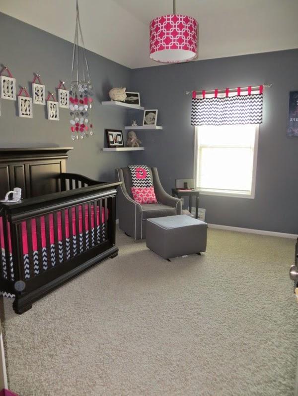 Dormitorios para bebés en color rosa y gris - Dormitorios ...