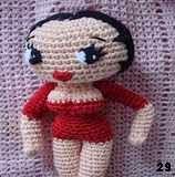 free amigurumi pattern Betty Boop doll