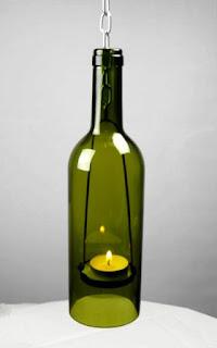 rumah lampu gantung dari botol