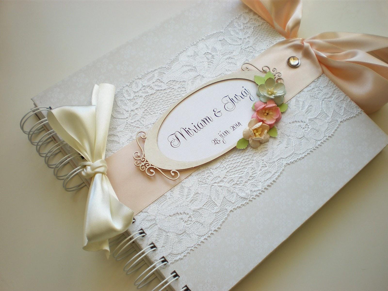 Svadobná kniha hostí champagne / Wedding guest book champagne