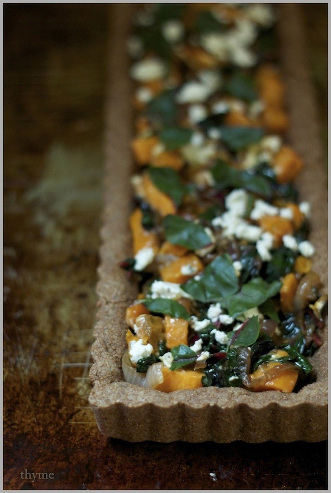 ... : Swiss Chard, Sweet Potato, and Goat Cheese Tart...with Teff Crust