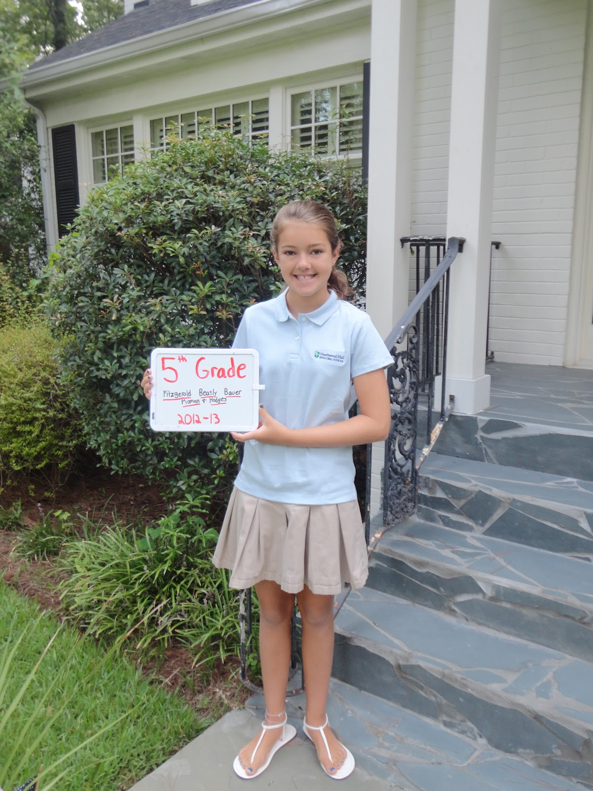 Olivia - First Day of 5th Grade