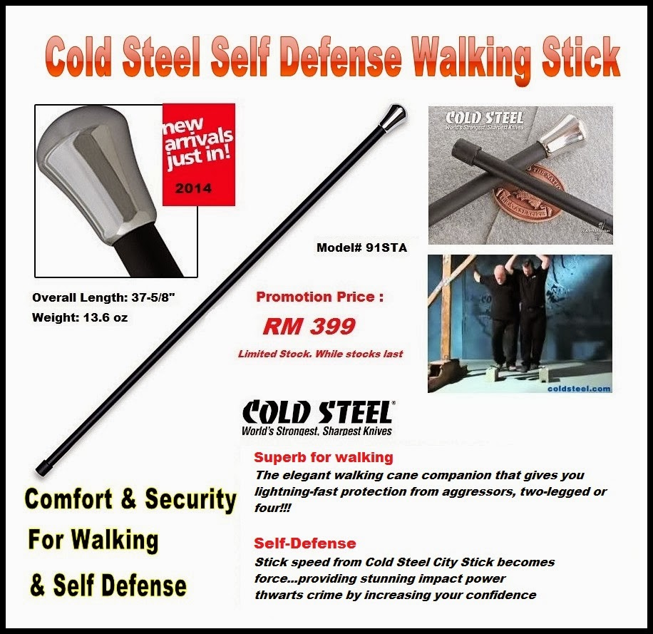 Self Defense with Cold Steel City Stick now at RM 399 Only!!