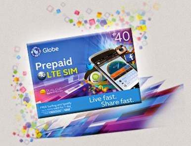 Globe Prepaid LTE SIM Now Available for Php40 or Php75