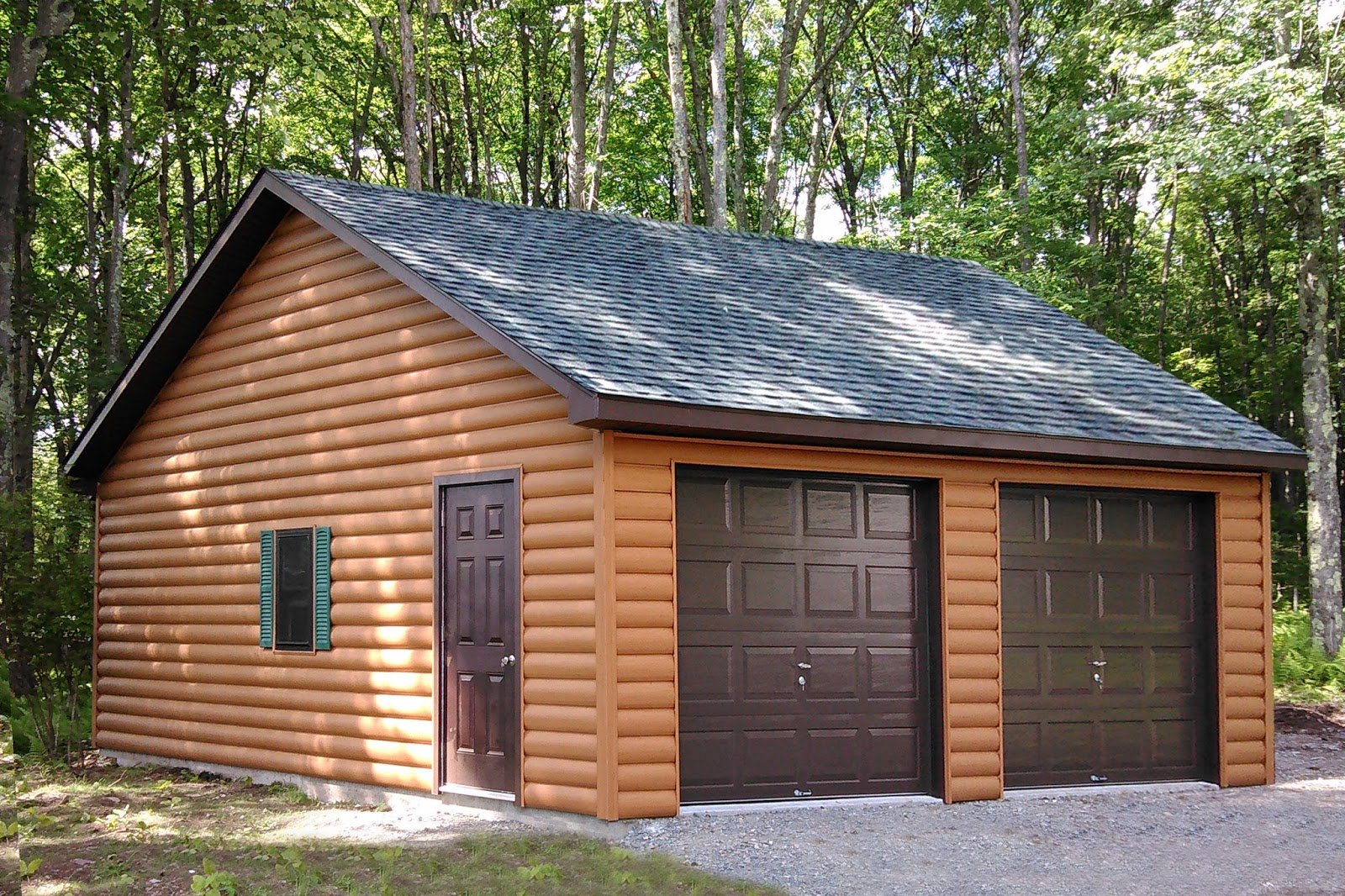 Prefab car garages for sale in pa nj ny ct de md va for Two car garage with workshop plans
