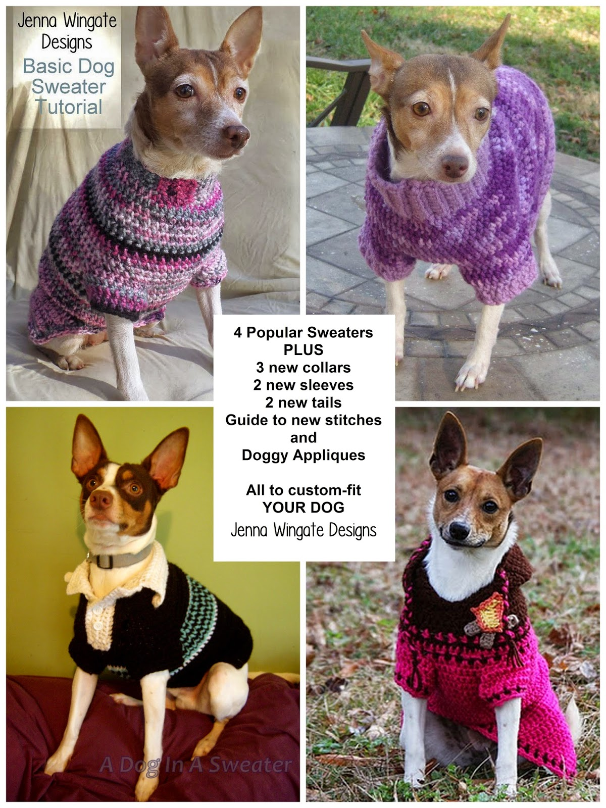 Jenna wingate designs custom fit dog sweater ebook custom fit dog sweater ebook fandeluxe Image collections
