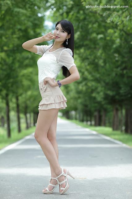 8 Cha Sun Hwa-Ruffle Mini Dress-very cute asian girl-girlcute4u.blogspot.com